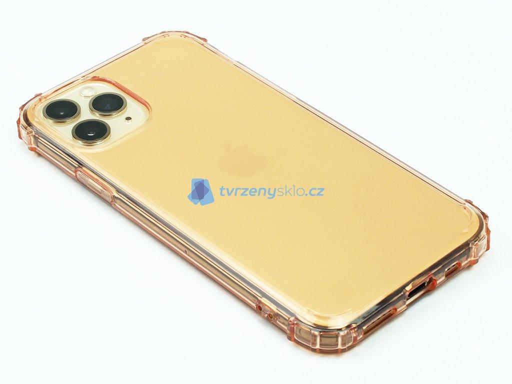 Gumový obal s vyztuženými hranami na iPhone 11 Pro Zlatý 1