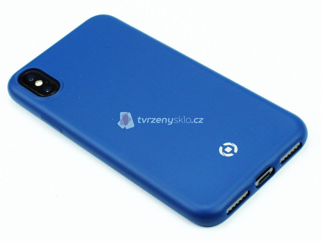 TPU pouzdro CELLY Softmatt pro iPhone X, iPhone XS Modré 1