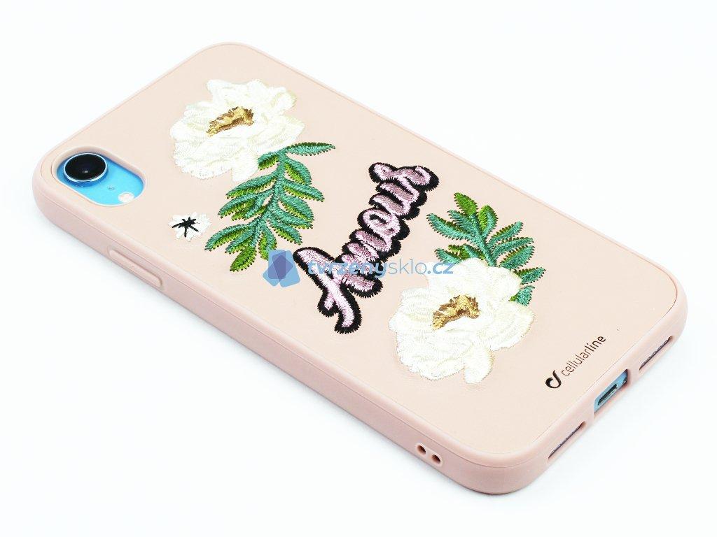 Zadní kryt s vyšívaným motivem Amour pro iPhone XR 1
