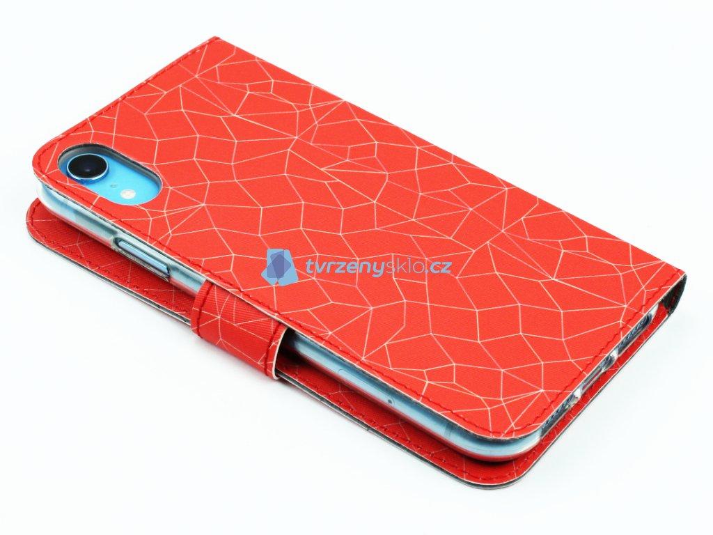 Pouzdro typu kniha Fixed Fit pro iPhone XR Red Mesh 3