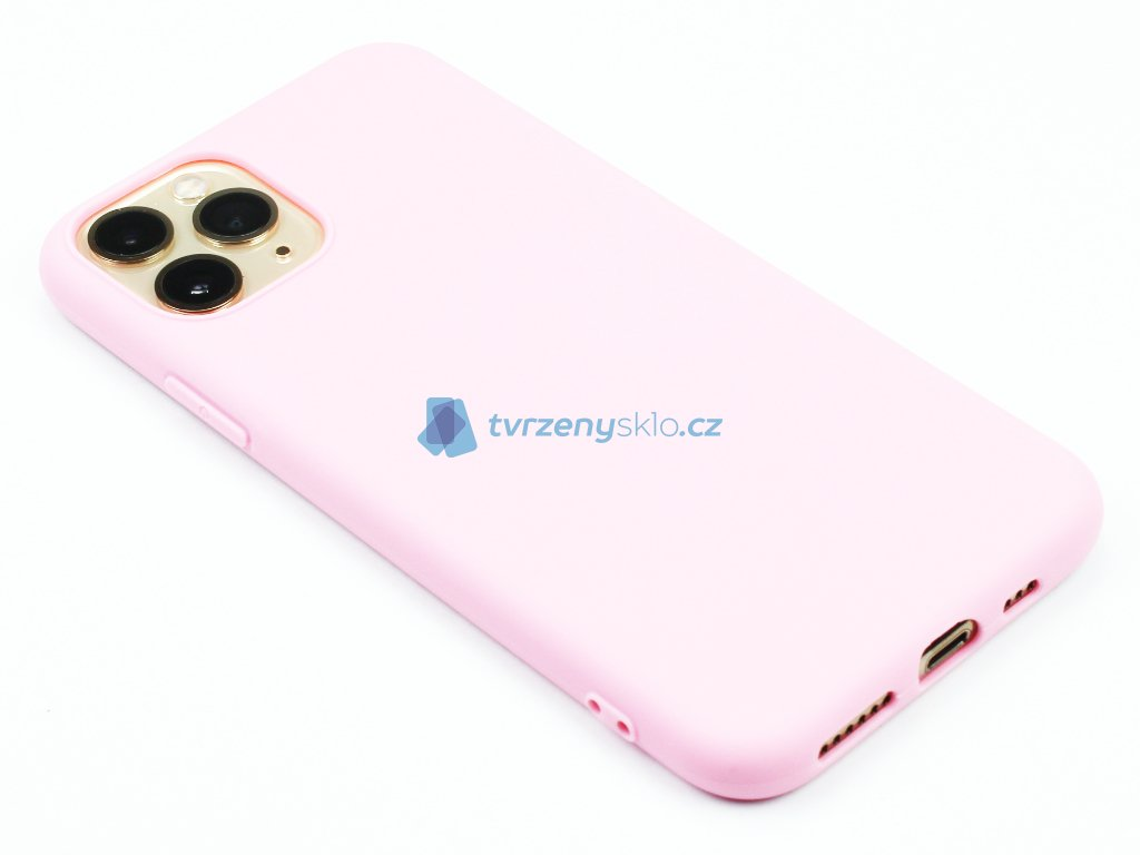 TPU Gumový kryt pro iPhone 11 Pro Růžový 1