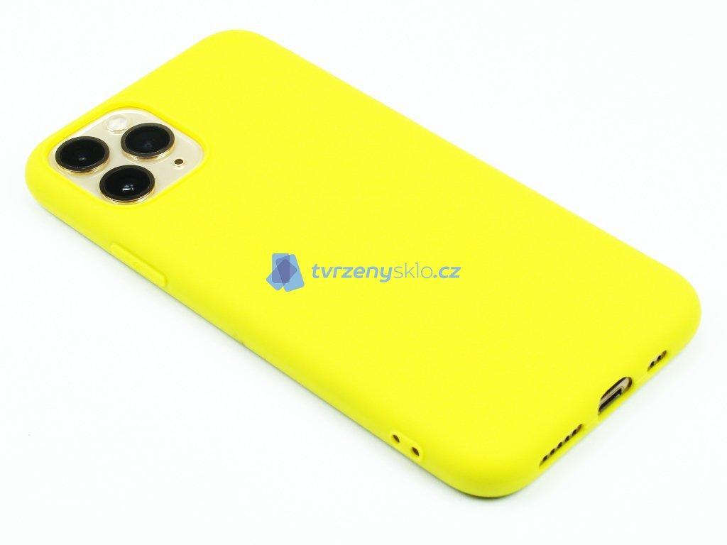 TPU Gumový kryt pro iPhone 11 Pro Max - Žlutý