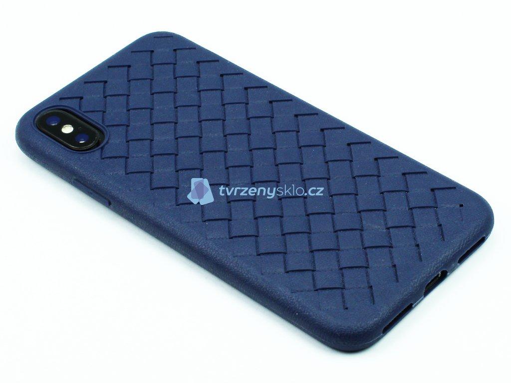 Gumový obal s vroubky na iPhone X,XS Modrý 1