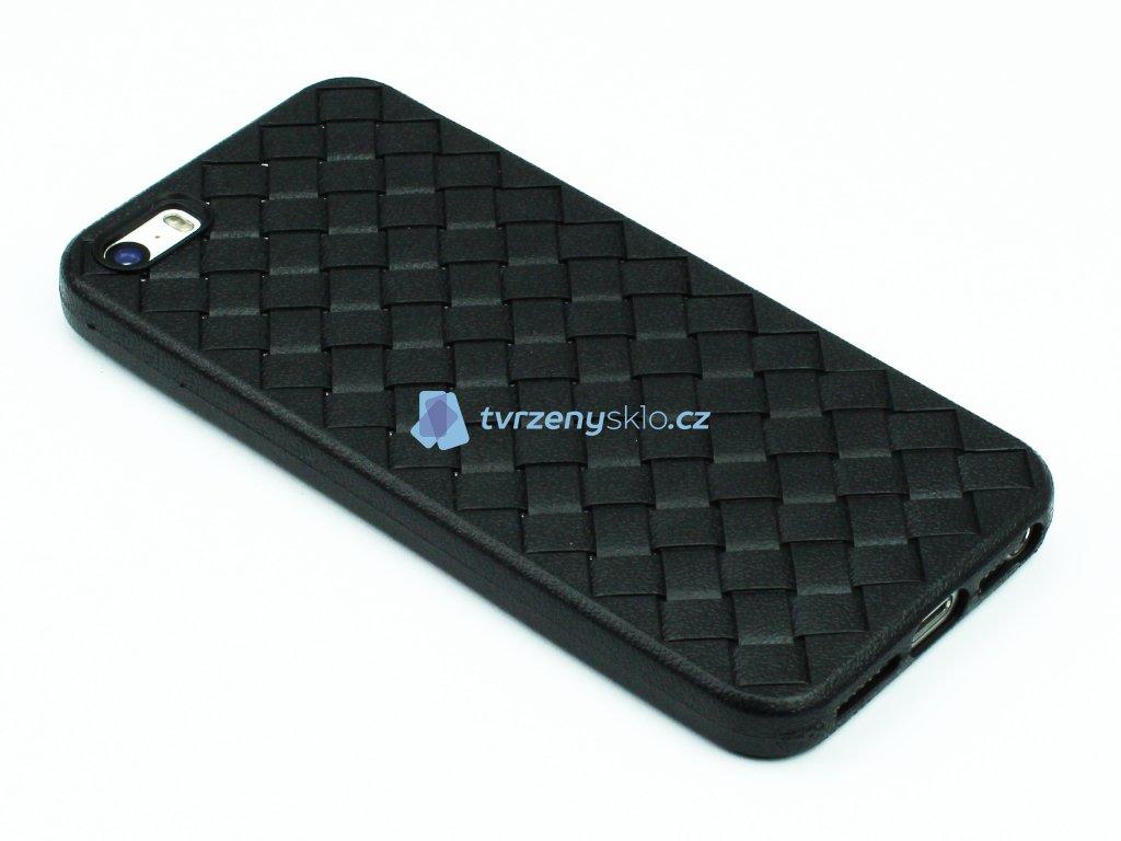 Gumový obal s vroubky na iPhone 5,5s,SE Černý 1