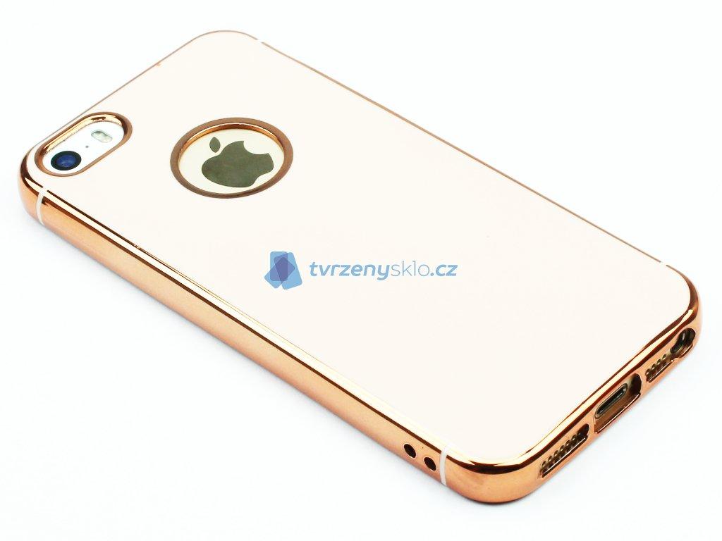 Lesklý, gumový obaly na iPhone 5,5S,SE Zlatý 1