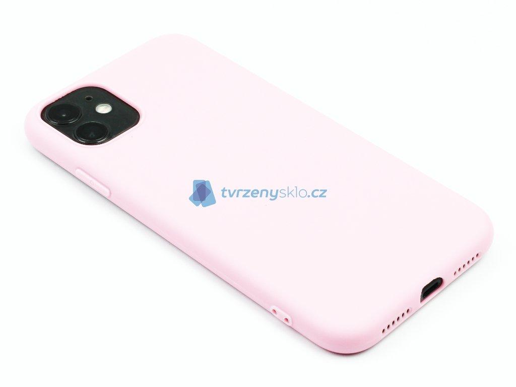 TPU Gumový kryt pro iPhone 11 Růžový 1