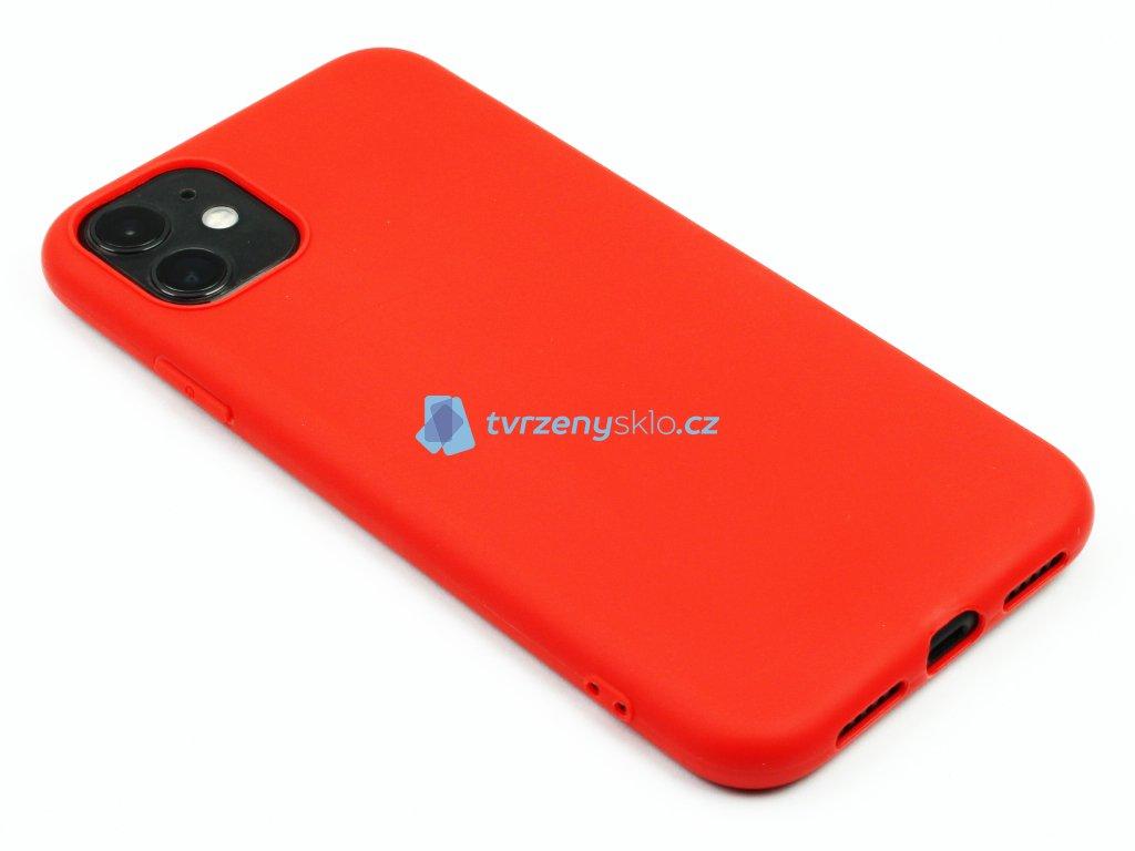 TPU Gumový kryt pro iPhone 11 Červený 1
