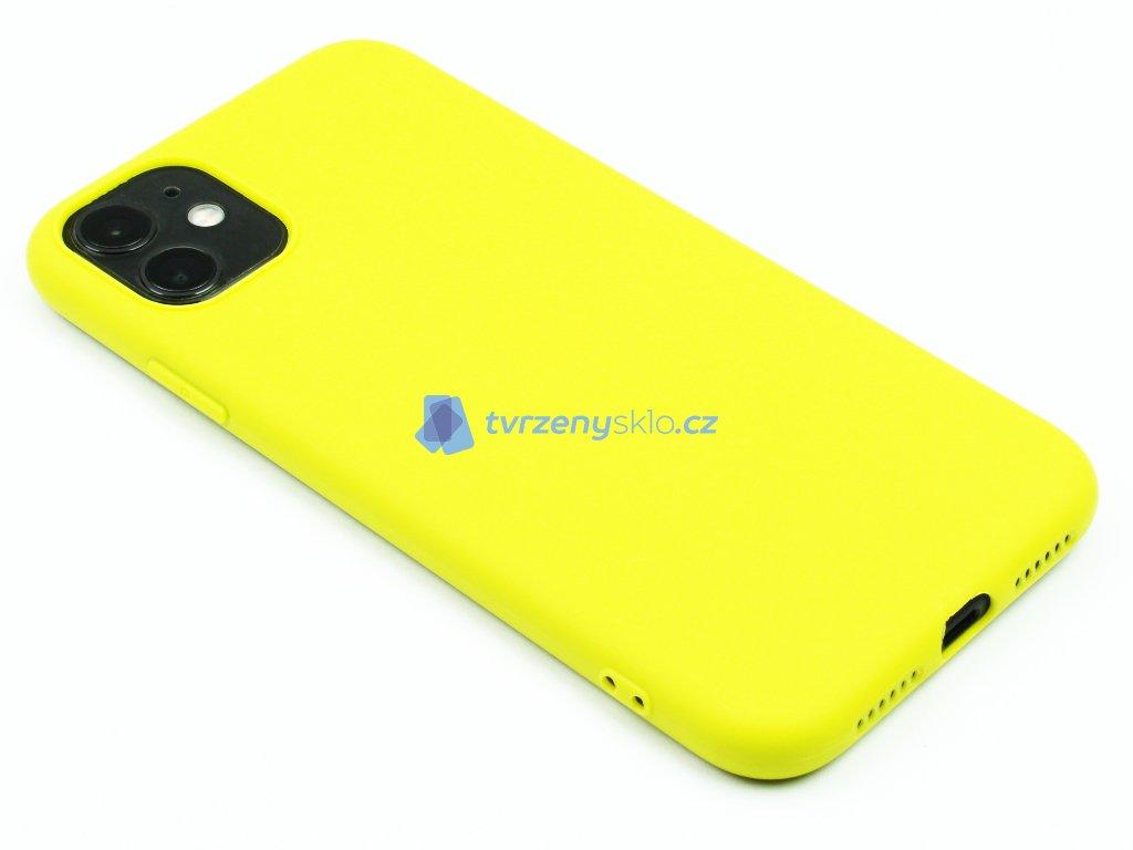 TPU Gumový kryt pro iPhone 11 Žlutý 1