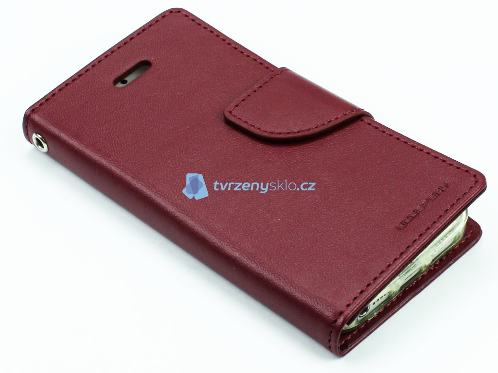 Zavírací Mercury kryt na iPhone 5,5s,SE Vínový 1