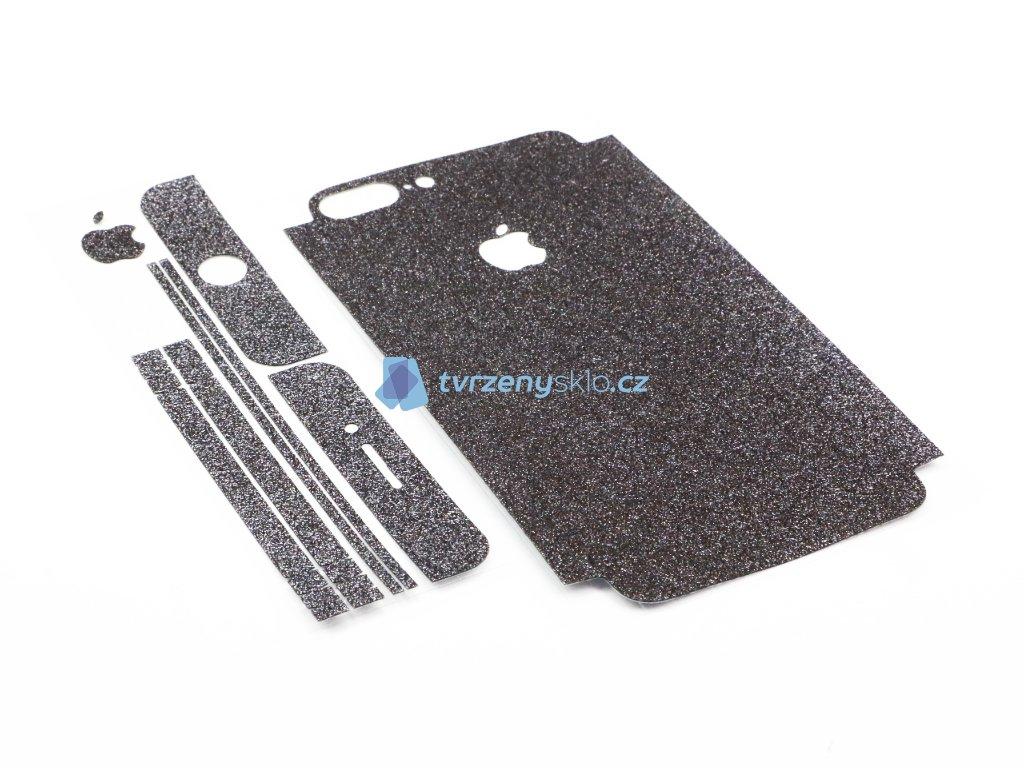 Třpytivá fólie 2v1 na iPhone 7 Plus, iPhone 8 Plus Černá
