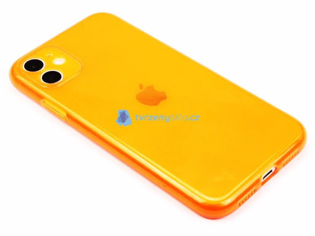 Fluorescentní obal na iPhone 11 Oranžový 1