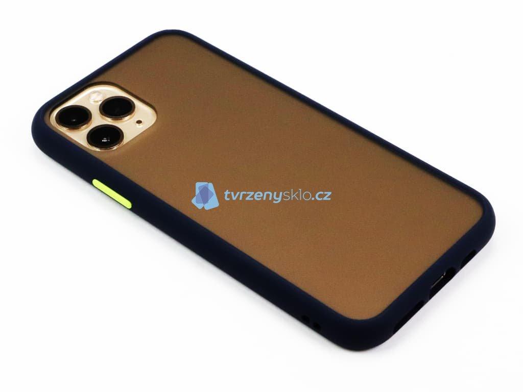 Pevný, gumový obal na iPhone 11 Pro Modrý 1