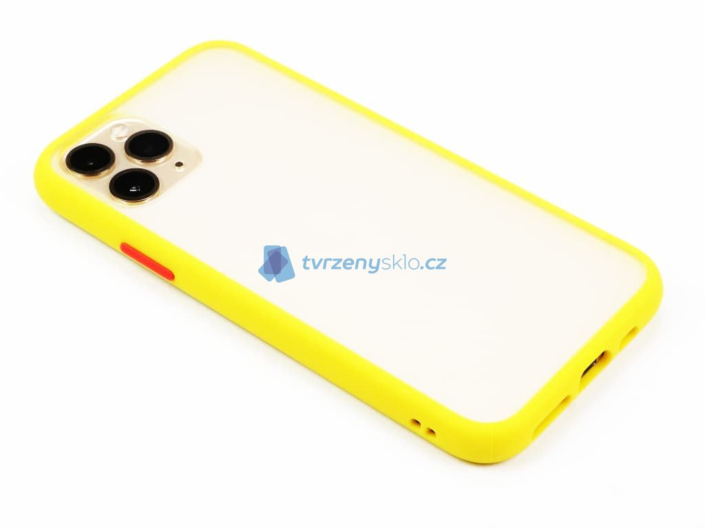 Pevný, gumový obal na iPhone 11 Pro Žlutý 1