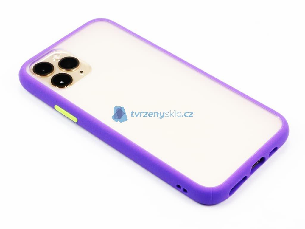 Pevný, gumový obal na iPhone 11 Pro Fialový 1