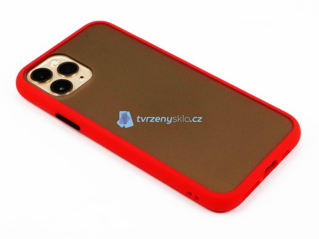 Pevný, gumový obal na iPhone 11 Pro Červený 1
