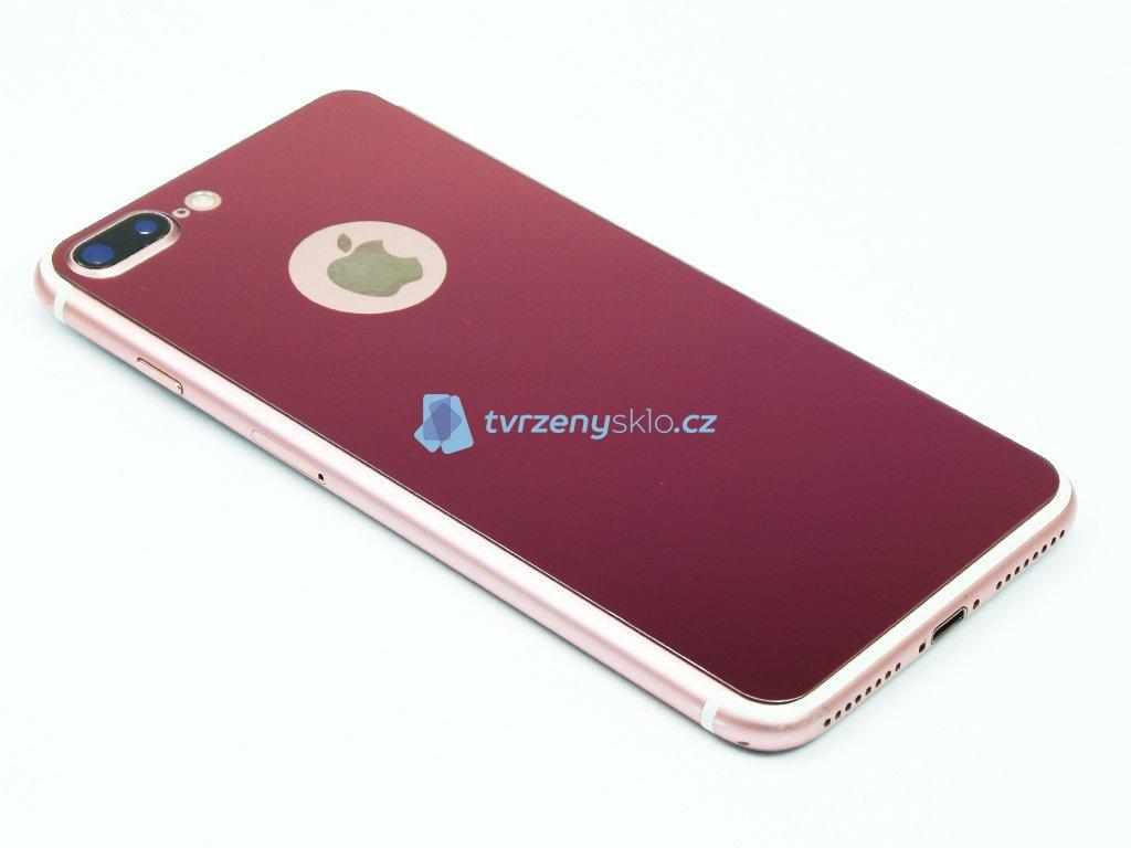 Barevné Tvrzené sklo pro iPhone 7,8 Plus na přední i zadní část Růžové 1