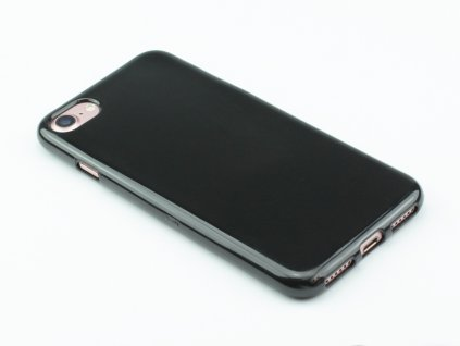 Pevný Gumový kryt pro iPhone 7, iPhone 8 Černý