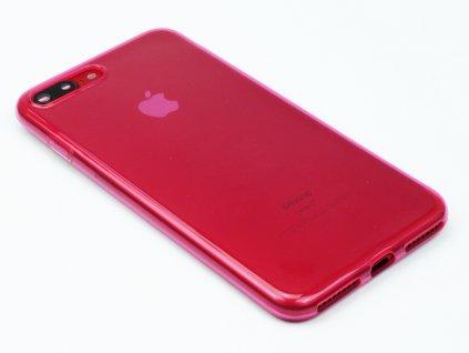 Pevný, Gumový kryt na iPhone 7 Plus, iPhone 8 Plus Růžový