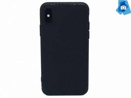 Silikonový kryt pro iPhone X Černý