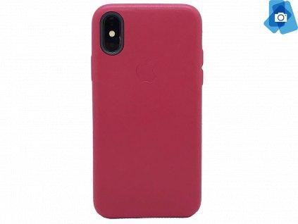 Kožený kryt pro iPhone X (OEM) Červený