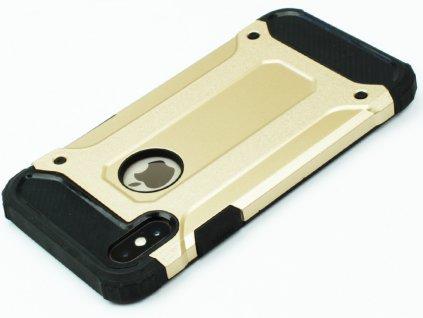 Vysoce odolný kryt pro iPhone X Zlatý