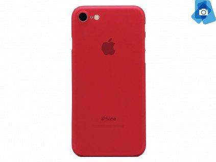 Ultratenký, Plastový, Pevný kryt na iPhone 7, iPhone 8 Červený