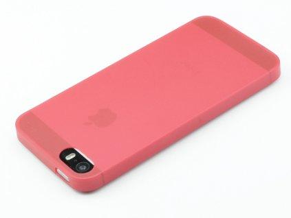 Tenký Plastový kryt na iPhone 5,5s,SE Červený