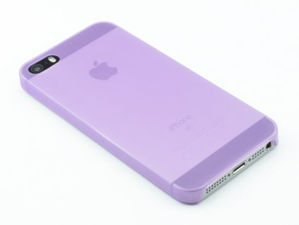 Tenký Plastový kryt na iPhone 5,5s,SE Fialový