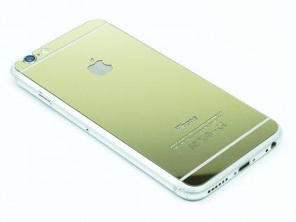 Barevné Tvrzené sklo pro iPhone 6,6s Zlaté