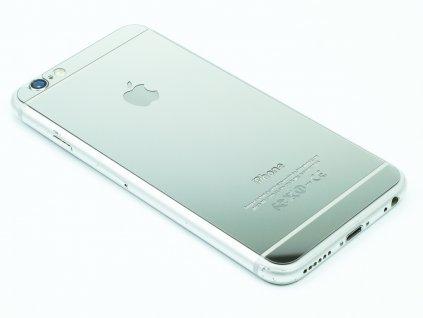 Barevné tvrzené sklo pro iPhone 6,6S na přední i zadní část Stříbrné 1