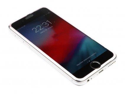 3D Tvrzené sklo s hliníkovým rámečkem iPhone 6,6s,7,8 - Růžové