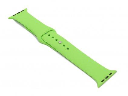 Silikonový řemínek na Apple Watch Zelený