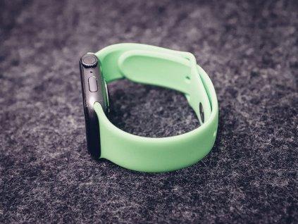 Gumový řemínek pro Apple Watch Zelený