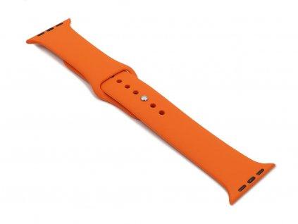 Silikonový řemínek na Apple Watch Oranžový