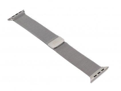 Ocelový řemínek na Apple Watch Stříbrný