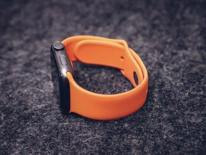 Gumový řemínek pro Apple Watch Oranžový