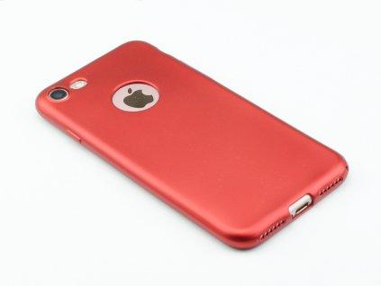 Pevný, GumovoSilikonový kryt pro iPhone 7,8 Červený