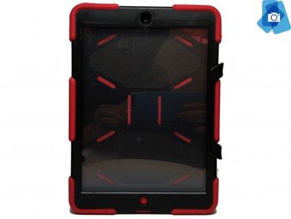 Vysoce odolný kryt na iPad Air 1,2 Červenočerný (2)