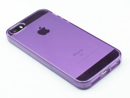 Pevný Gumový kryt na iPhone 5,5s,SE Fialový