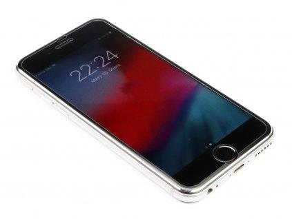 3D Tvrzené sklo s hliníkovým rámečkem iPhone 6,6s,7,8 - Černé