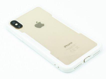 Průhledný obal s gumovým rámečkem pro iPhone X,XS Bílý