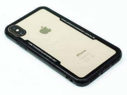 Průhledný obal s gumovým rámečkem pro iPhone X,XS Černý