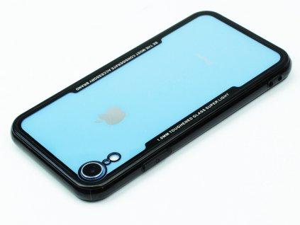 Průhledný obal s gumovým rámečkem pro iPhone XR Černý
