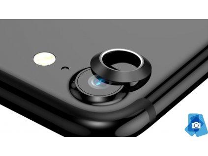 Tvrzené sklo na čočku fotoaparátu s ocelovým rámečkem pro iPhone 7,8 Černý