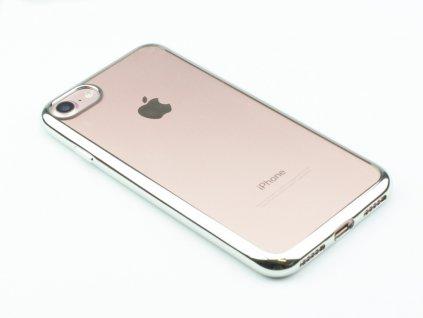 TPU pouzdro CELLY Laser lemování s kovovým efektem pro Apple iPhone 7,8 Stříbrné