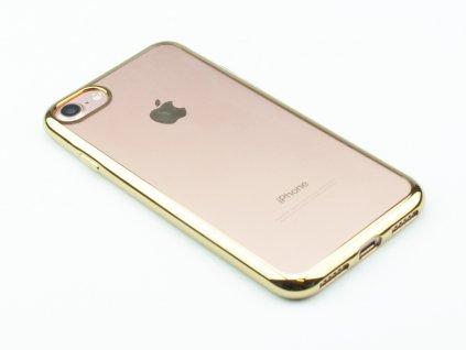 TPU pouzdro CELLY Laser lemování s kovovým efektem pro Apple iPhone 7,8 Zlaté