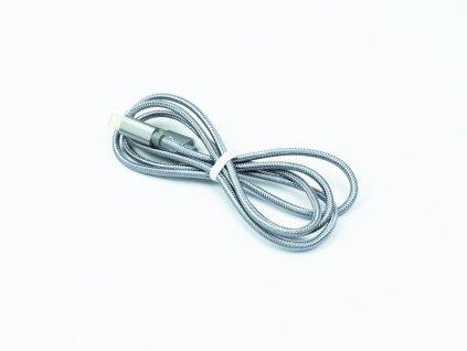 Nabíjecí lightning kabel Hoco Knitted 1m, Šedý, HCA394 3