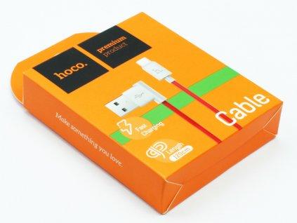 Hoco Shape nabíjecí kabel Micro USB 1,2m Červený