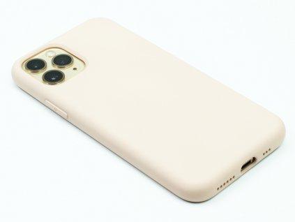 Silikonový kryt na iPhone 11 Béžový 1