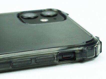 Gumový obal s vyztuženými hranami na iPhone 11 - Černý